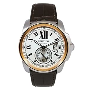Amazon.com: Cartier Calibre De Cartier Silver Dial Mechanical Wind