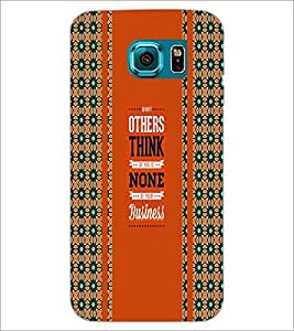 PrintDhaba Quote D-3409 Back Case Cover for SAMSUNG GALAXY S6 (Multi-Coloured)