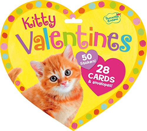 Fantastic Deal! Peaceable Kingdom / Valentine Heart Pack Kitty Cards & Stickers