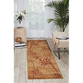 """Nourison Somerset (ST74) Latte Round Area Rug, 5-Feet 6-Inches by 5-Feet 6-Inches (56"""" x 56"""")"""