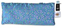 EYE PILLOW UNSCENTED + Flax Seed Filled + Carry Bag. Silk Fabric, downloadable meditation audio - Use for Yoga, Natural Sleep Aid, Stress Relief, Anxiety Relief, Meditation,...