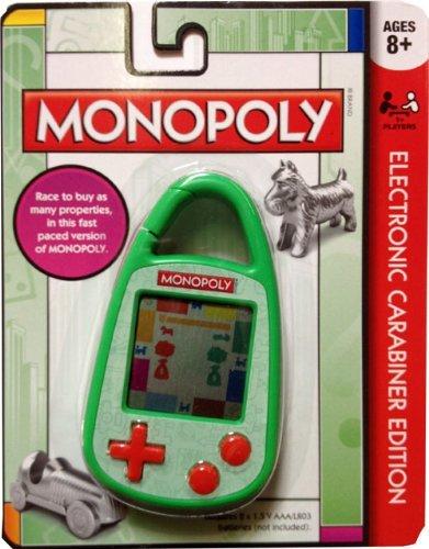 Monopoly Electronic Handheld Game Carabiner Keychain