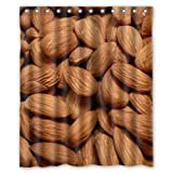 Lovely Roasted Almonds Custom Shower Curtain 60x72 Inch Cool