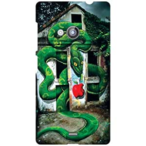 Nokia Lumia 535 Phone Cover -Green Color Matte Finish Phone Cover
