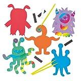 Kratzbild-Magnete 'Monster' für Kinder zum individuellen...