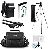 Essential Accessories Kit For Sony HDR-CX240, HDR-PJ275, HDR-CX440, HDR-CX405, HDR-PJ440, FDR-X1000V, AS200V, HDR-AS30V, HDR-AS15 Camera Includes Replacement NP-BX1 Battery + Charger + Case + Tripod +