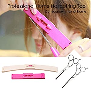 Cutting Your Own Hair at home with Hair Cutting Scissors and Tools by Bellesentials