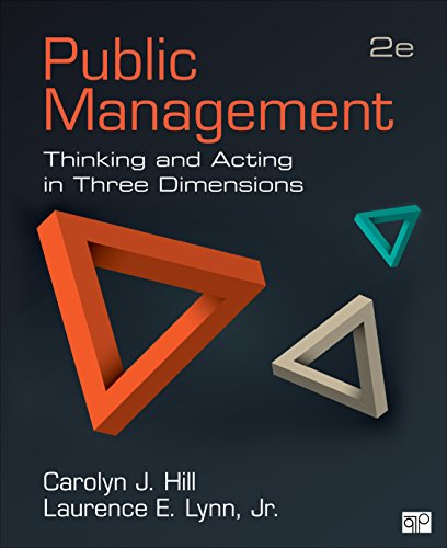 Public Management; Thinking and Acting in Three Dimensions