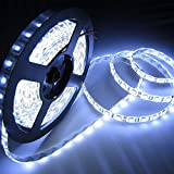 Non WaterProof SMD 3528 LED STRIP Lights (5 Meter) + DC 12V Adapter + LED Dimmer / Controller (COOL WHITE)