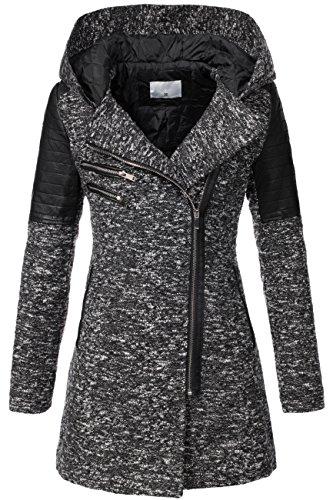 Peak Time v-1507 da donna between-season Giacca Black 2 52