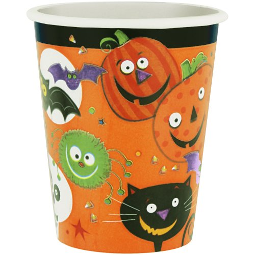 9oz Spooky Smiles Halloween Paper Cups, 8ct - 1