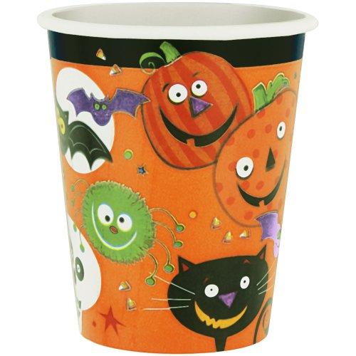 9oz Spooky Smiles Halloween Paper Cups, 8ct