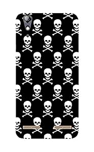 Back Cover for Lenovo A6000 Abstract Skull