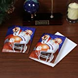 NCAA Clemson Tigers 12-Pack Single Santa Painting Design Christmas Cards at Amazon.com