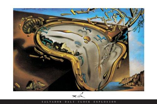 Salvador Dali Clock Explosion Art Photo Print Poster RARE (Salvador Dali Pictures compare prices)