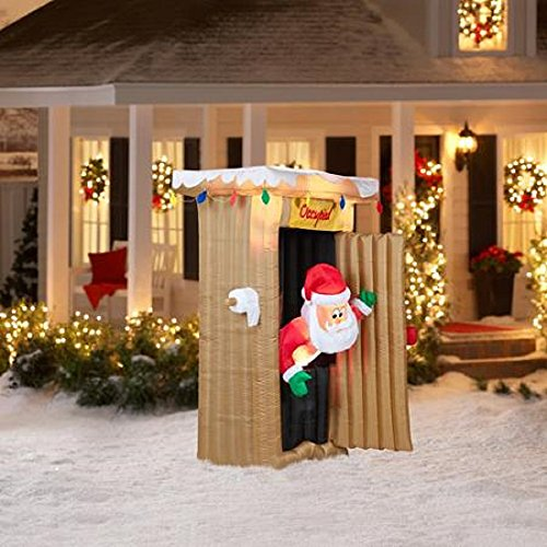CHRISTMAS-INFLATABLE-6-FT-TALL-ANIMATED-LED-LIGHTED-OUTHOUSE-SANTA-OUTDOOR-YARD-PROP