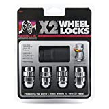 Gorilla Automotive (71641X) 14mm x 1.50 Thread Size Acorn Chrome X2 Wheel Lock, (Pack of 4)
