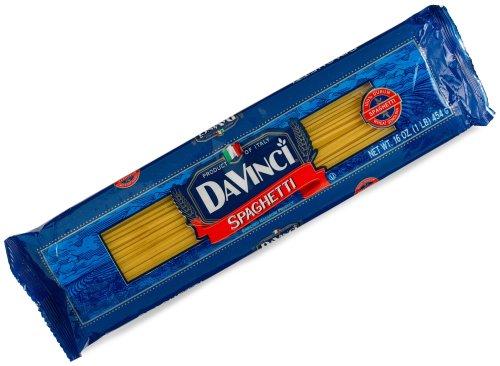 DaVinci Pasta, Long Cuts, Spaghetti, 16 Ounce Bags (Pack of 20)