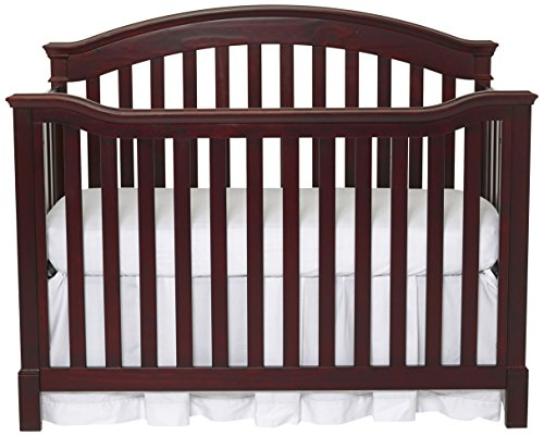 Summer Infant Freemont Easy Reach 4-In-1 Convertible Crib, Black Cherry