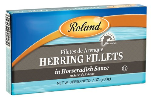 Roland Herring Fillets in Horseradish Sauce, 7-Ounce Can (Pack of 6)