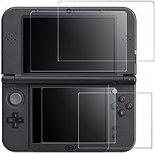 Protectores de Pantalla para Nintendo New 3DS XL, AFUNTA 4 pcs Vidrios Templado para la Pantalla Superior y Protectores en PET Claro HD para la Pantalla Inferior para 3DSXL