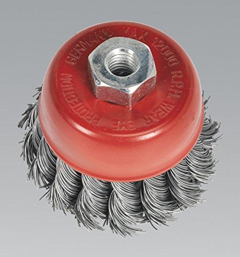 Sealey TKCB652 Twist Knot Wire Cup Brush, Dia 65 mm, M10 x 1.25 mm