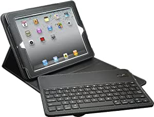 Aduro FACIO Case with Bluetooth Removable Keyboard for Apple iPad 2 / 3 & 4 Generation (Black)