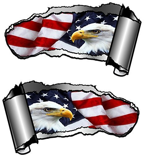 small-handed-pair-of-novelty-torn-ripped-open-gash-metal-effect-car-sticker-decal-to-reveal-american