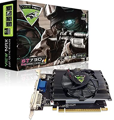 ViewMax NVIDIA GeForce GT 730 4GB GDDR3 128-Bit PCI Express (PCIe) DVI Video Card HDMI & HDCP Support *** WARRIOR EDITION ***