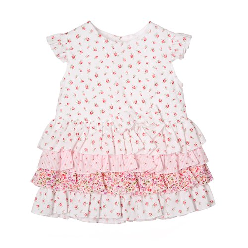 Aletta Floral Layer Cotton Dress with Matching Knickers