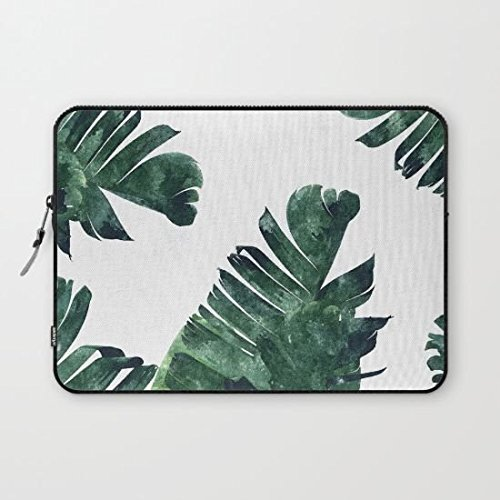 Laptop Sleeve 13/13.3 Inch, Banana Leaf Watercolor Pattern Society6 Notebook/MacBook Pro/MacBook Air Laptop (One Direction Macbook Cases compare prices)