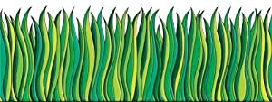 Scholastic tf3302 tall green grass jumbo for Tall border grass