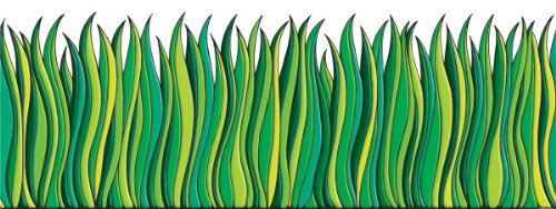Scholastic tf3302 tall green grass jumbo borders for Tall border grass