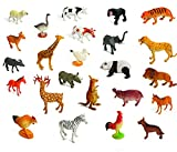 Set of 24 Large size ZOO SET Wild, Jungle, Farm & Desert Animals In Plastic Storage Container