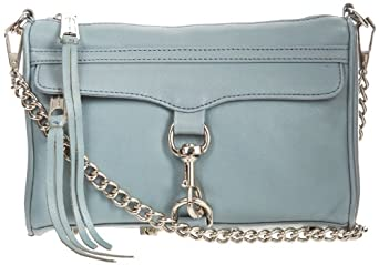 Rebecca Minkoff Mini MAC Convertible Cross-Body Handbag,Ash Grey,One Size