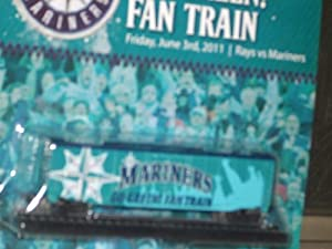 2011 GO GREEN! FAN TRAIN - June 3, 2011 TAMPA BAY RAYS v SEATTLE MARINERS BASEBALL Game GSA Sealed in package NEW! 12th Edition of the Mariners Express collectible train series.