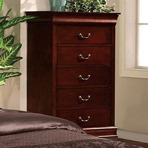 Louis Phillipe Classic Cottage Style Cherry Finish Bedroom Chest front-920958