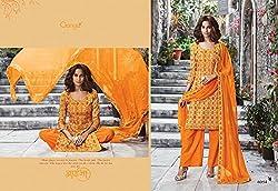 Gangafashions Cotton Fabric Yellow Designer Salwar Kameez [GE-6054-Aaina Vol - 2-1]