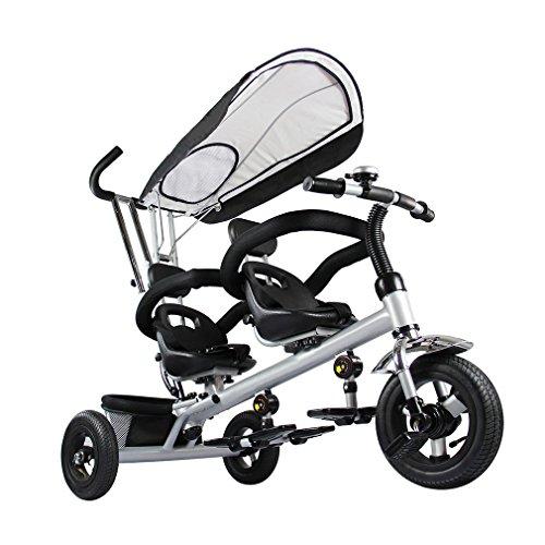 fascol doppel kinder dreirad kinder trike 3 r der fahrrad mit 2er sitzer abnehmbares sonnendach. Black Bedroom Furniture Sets. Home Design Ideas