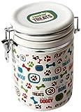 "DEI Stoneware Lucky Dog Collection ""I Bark for Treats"" Treat Jar"