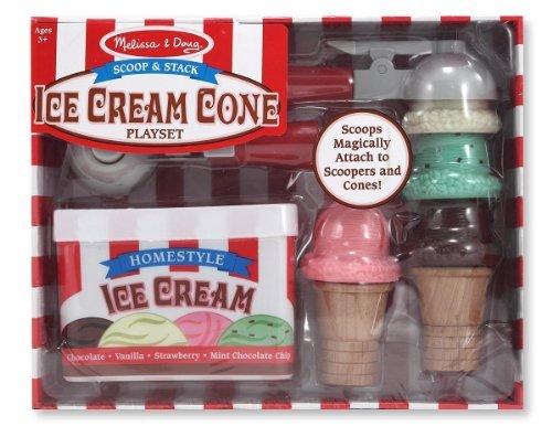Ice Cream Scoop Set - Magnetic Play Food Set (Melissa And Doug Ice Cream Cone compare prices)