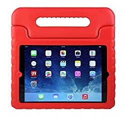 iPad Mini Case for Kids: Stalion Safe Shockproof Protection for iPad Mini 1st 2nd 3rd & 4th Generation (Cherry Red) Ultra Lightweight + Comfort Grip Carrying Handle + Folding Stand