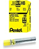 Pentel Super Hi-Polymer Lead Refill, 0.9mm Thick, HB, 180 Pieces of Lead (50-9-HB)