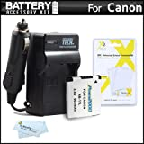 Battery And Charger Kit For Canon Powershot A4000 IS, ELPH 135, ELPH 140 IS, ELPH-150 IS, ELPH 150 IS, SX400 IS, ELPH 170 IS, ELPH 160, SX410 IS, ELPH 350 HS Digital Camera Includes Extended Replacement (900Mah) NB-11L Battery + Ac/Dc Travel Charger +More