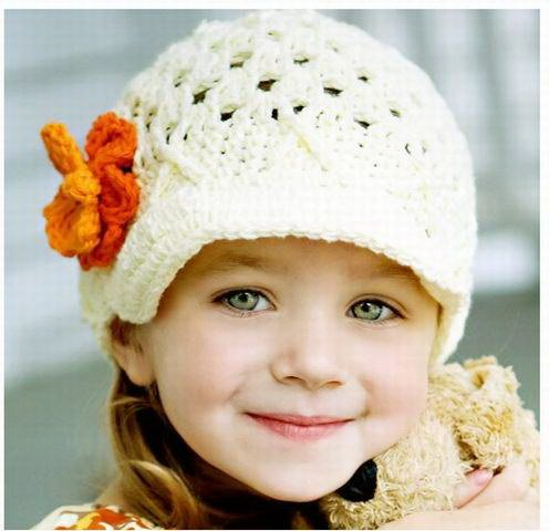 Knitting Patterns For Toddler Girl Hats : Baby Crochet Hats