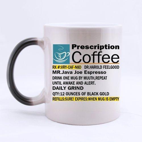 Top Funny Big Mouth Toys The Prescription Coffee Morphing Coffee Mug Or Tea Cup,Ceramic Material Mugs - 11Oz