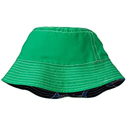 Hanna Andersson Baby Reversible Swim Hats With UPF 50+, Size S (1-3 Years), Navy/Green