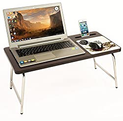 Bluewud Riona Bed Laptop Table with inbuilt Mobile Stand & Mousepad - RioDesk Ace (Wenge Time) RD-AW-TM