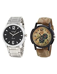 Relish Analog Round Casual Wear Watches For Men Combo - B01ANCDLPK