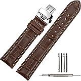 [ティストラップ]TStrap 時計 革ベルト 21mm レザー 腕時計バンド 本革 プッシュdバックル 観音開き